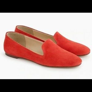 J Crew Suede Smoking Slipper Loafers